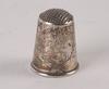 Fingerborgar, 6 st, silver och guld, 1900-tal.