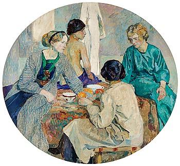 """15. Carl Wilhelmson, """"I atelieren"""" (In the Studio)."""
