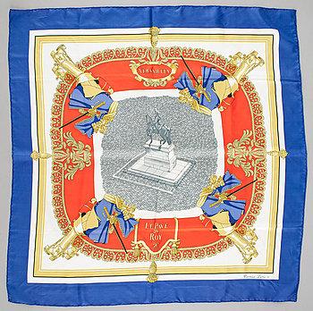 """422. A silk scarf """"Versailles Le Pavé du Roy"""" by Hermès."""
