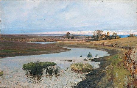Vasili dimitrevich polenov, river landscape.