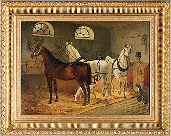 JOHANN GEORGE ARSENIUS, Olja på duk, sign och dat 1869.