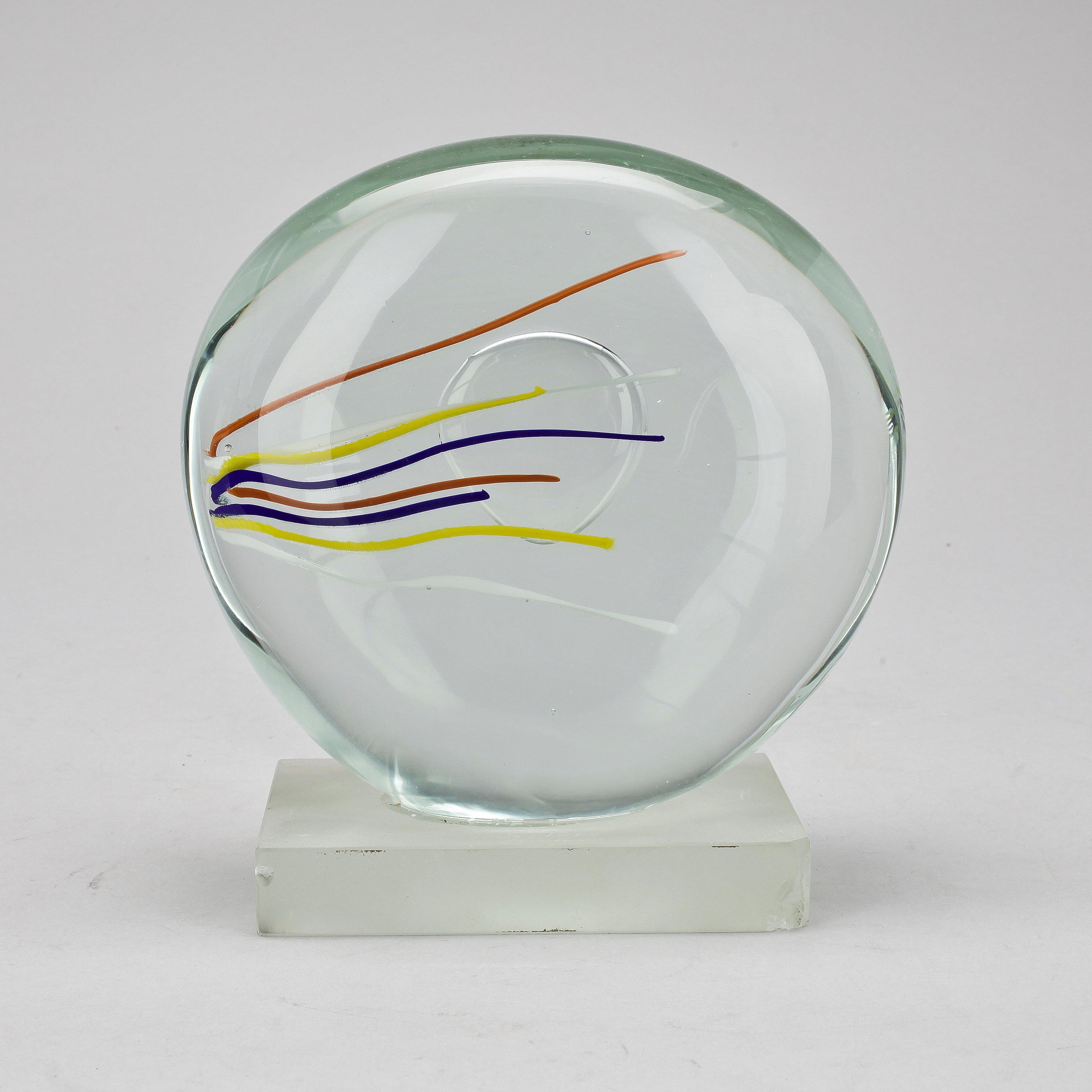 Skulptur Glas S Toso Murano Sign Bukowskis