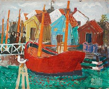 12. Olle Olsson-Hagalund, Scenery from Gullholmen harbour.
