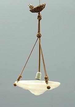 245131. TAKAMPEL, alabaster, 1900-tal. Diam 35.