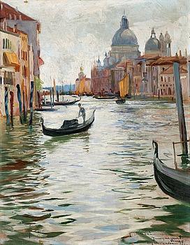 ALF WALLANDER, Venetianskt kanalmotiv.