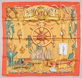 "424. A silk scarf ""Musée"" by Hermès."