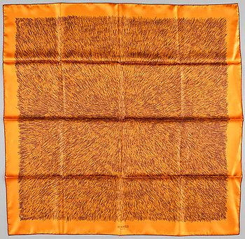 "427. A silk scarf ""Touch me"" by Hermès."