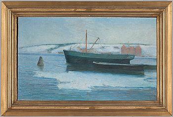 KARL NORDSTRÖM, olja på duk, sign och dat 1891.