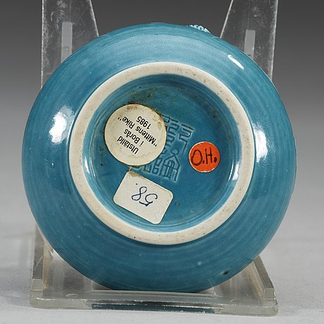 A turkoise/blue glazed brush washer, qing dynasty, 19th century.