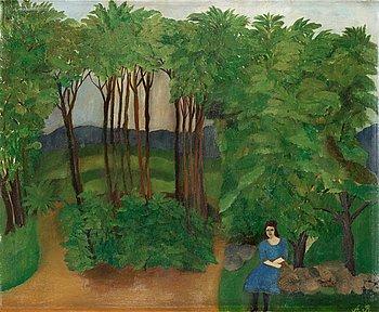 "13. Anna Berg, ""Ensam i skogen"" (Alone in the forest)."