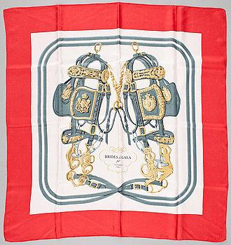 """428. A silk scarf """"Brides des gala"""" by Hermès."""