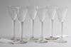 Stakvinsglas, 6 st. glas. 1800-tal.