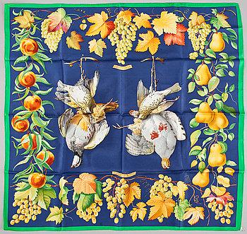 """429. A silk scarf """"Fructidor"""" by Hermès."""