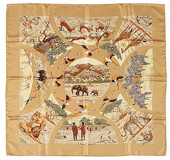 "432. A silk scarf ""Tanzanie"" by Hermès."