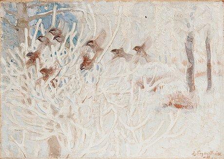 Lennart segerstråle, birds in a snowy landscape.