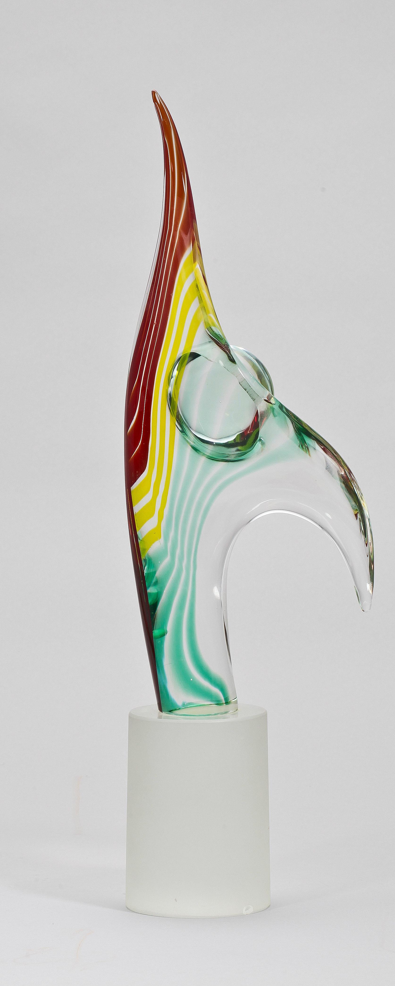 Skulptur Glas Sign Romano Dona Murano Italien 1900 Tal Bukowskis