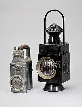 247869. LYKTOR, 2 st, metall, tidigt 1900-tal.