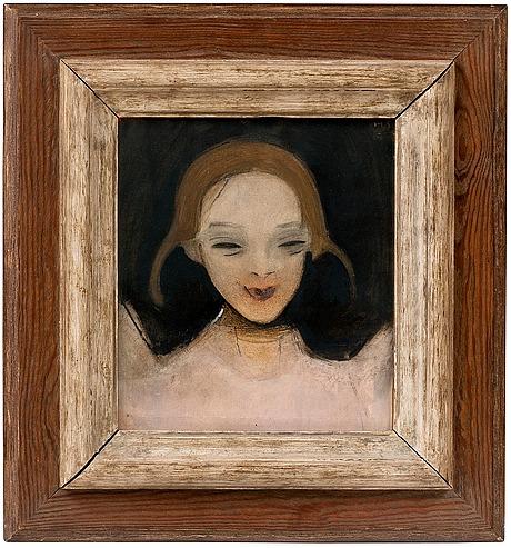 """Helene schjerfbeck, """"smiling girl""""."""