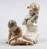 Figuriner,2 st, porslin, bing o gröndal samt zaphin.