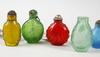 Snusflaskor, 11 st, glas, kina, 1900-tal.