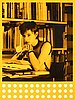 "Rosemarie trockel, ""bibliothek babylon yellow""."