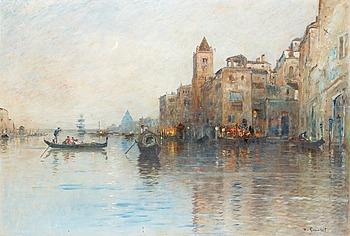 WILHELM VON GEGERFELT, Venetianskt kanalmotiv.