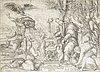"""Nicolas beatrizet, """"the sacrifice of iphigenia""""."""
