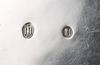 Kanna på rechaud, silver, bl a j c thorning, köpenhamn 1855 resp 1921.