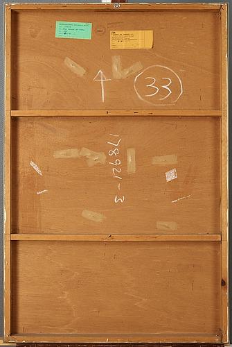 """Christo & jeanne-claude, """"deux chaisses ebt table"""" (projet d'après model de masy's 1963 pour l'usine spectrum, bergeyk, n.b. hollande)."""
