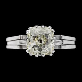 15. RING, antique cut diamond, app. 3 cts. WA Bolin 1969.