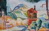 Schyl, jules, akvarell på pannå, sign. obs se ändringstext.