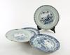 Tallrikar, 4 st olika, porslin, kina, qianlong, 1700-tal.