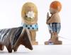 Figuriner, 3 st, stengods, lisa larson, gustavsberg.