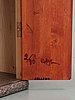 "A rolf hanson red painted cabinet, ""pelare"" (pillar), källemo, sweden."