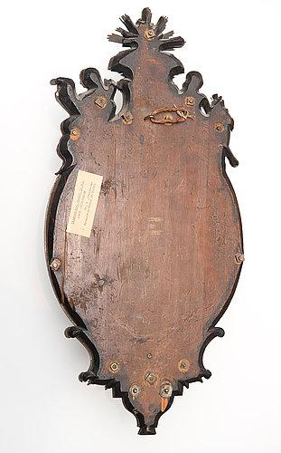 Spegellampetter, för ett ljus, ett par. burchard prechts verkstad, omkring 1720. senbarock.