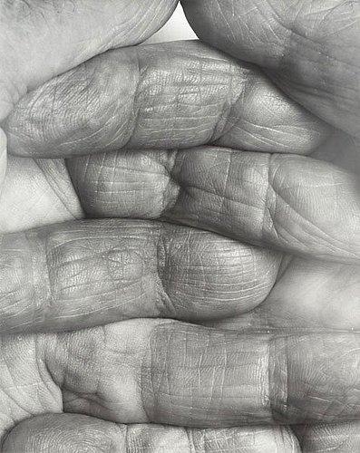 "John coplans, ""interlocking fingers"", no 1, 1999."