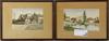 LindstrÖm, frans. akvareller, 13 stycken. sign.