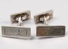 Manschettknappar, sterling silver, wiwen nilsson, lund 1944.