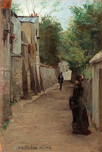 Nils forsberg, pedestrians, rue gabrielle, montmartre.