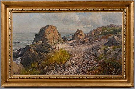 Berndt lindholm, coastal landscape.