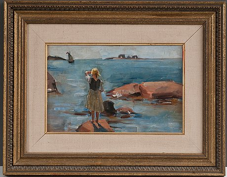 Venny soldan-brofeldt, a girl on the cliffs in hanko.