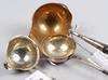 Soppslev samt bÅlslevar, 3 st, silver, otydl stämplar, 1800/1900-tal.