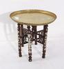 RÖkbord, trä, mässing, orientaliskt, 1900-tal.