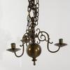 Ljuskrona samt appliquer, ett par, mässing, barockstil, 1900-tal. h 23-41.