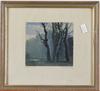 Carlberg, hugo, 2 st, akvareller, sign.