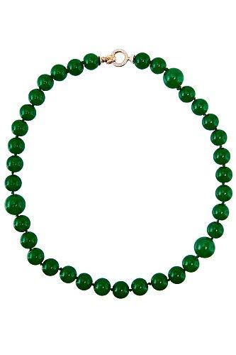 A jadeite collier.