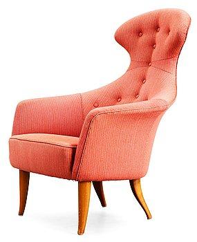 8. A Kerstin Hörlin-Holmquist 'Stora Eva' armchair, Nordiska Kompaniet, Nyköping 1950's-60's.
