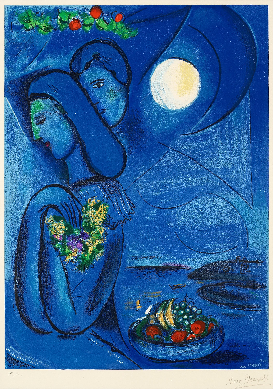 "MARC CHAGALL (Efter), ""Saint-Jean-Cap-Ferrat"". - Bukowskis Chagall Ferrat"
