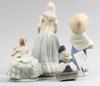 Figuriner, 4 st, bla kunglig dansk.
