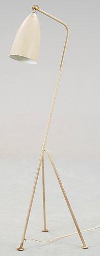 A greta magnusson grossman 'grasshopper' floor lamp, bergboms, malmö, sweden 1950's.